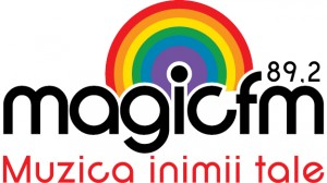 magic logo  negru