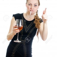 16402123-Drunk-woman-with-cigarette-and-wine-Isolated-on-white--Stock-Photo